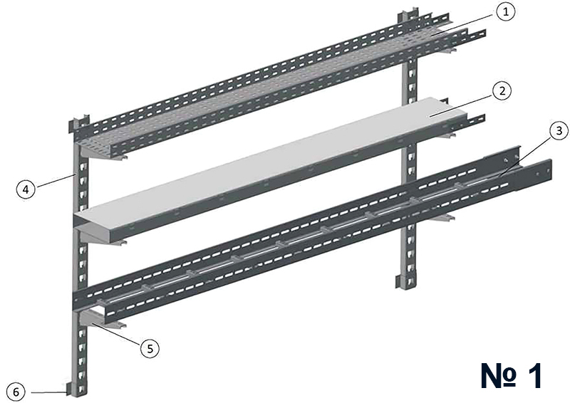 Cable tray supporting systems