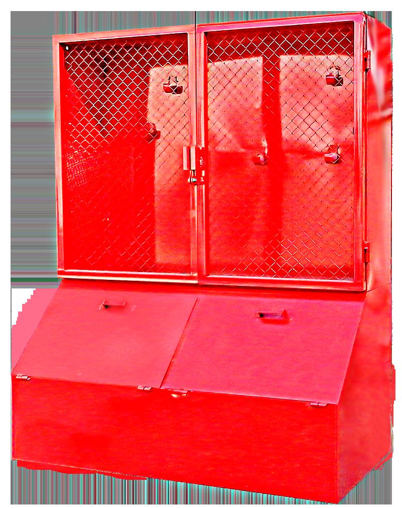 Outdoor fire equipment cabinet