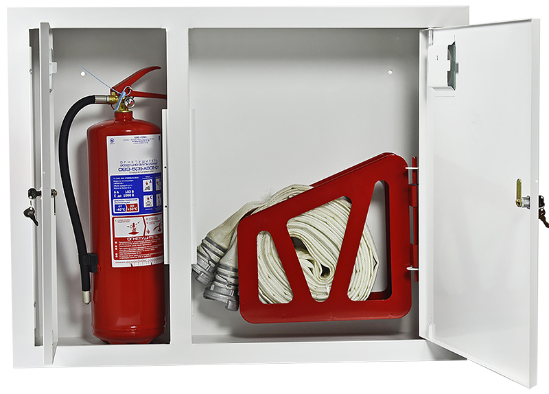 Fire hose reel cabinets built-in-type