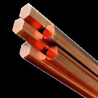 Copper hexagon rod